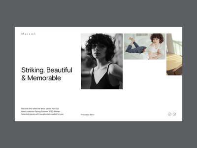 Fashion Website Hero flat fashion hero grid web design minimal website typography ux ui