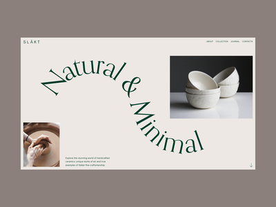 Forniture Website Hero layout design flat grid web design minimal website typography ux ui
