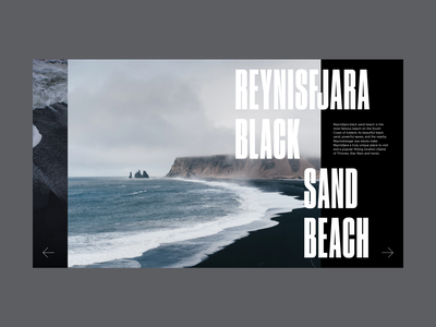 Iceland Destination Website Slider slider hero grid web design minimal website typography ux ui