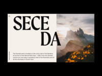 Dolomites Exploration Website Concept