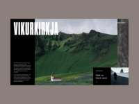 Iceland Exploration Website Slider
