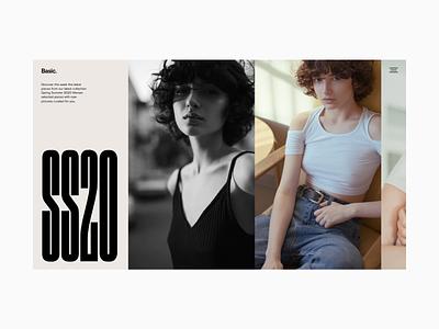 Fashion Website - Slider Concept photography art direction fashion flat hero web design minimal website typography ux ui