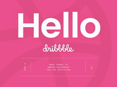 Hello Dribbble! noto mono poppins minimalistic thanks debout shot invitation dribbble typography first shot