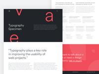 Typography Specimen
