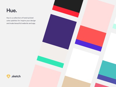 Hue - Free Website & App Color Palettes design process inspiration download art direction design app website ui ux freebie colors palette
