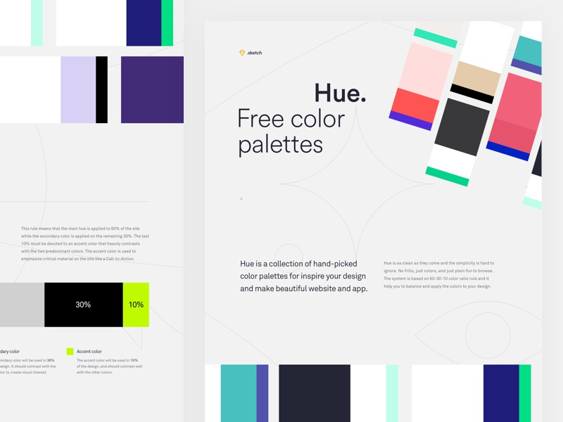 Hue Free Color Palettes By Stefano Peschiera On Dribbble
