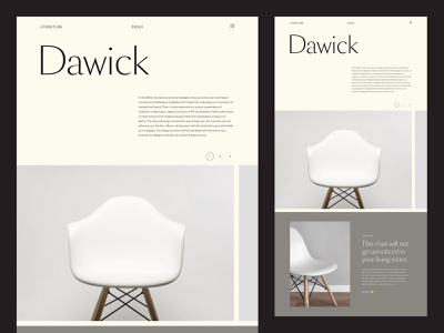 Forniture Website Template block slider home chair forniture grid flat web design minimal website typography ux ui