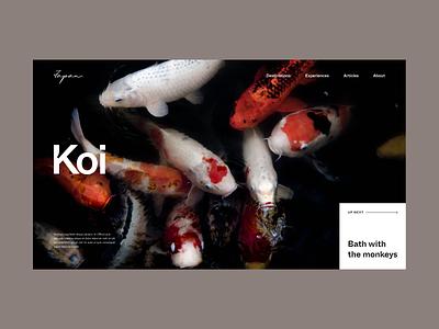 Inspired by Japan Hero Layout website editorial minimalist fullscreen minimal layout typography photography web design japan destination travel