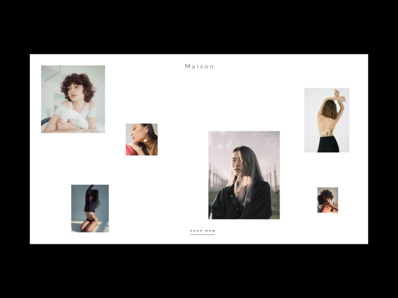 Minimal Fashion Layout ui website photography grid hero layout minimal web design style fashion