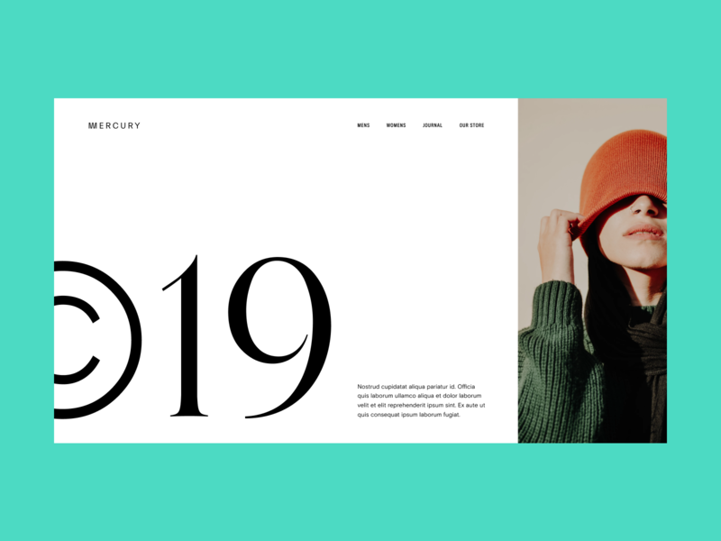 Fashion Hero Composition editorial photography big typography header hero user interface web design grids typography minimal style fashion