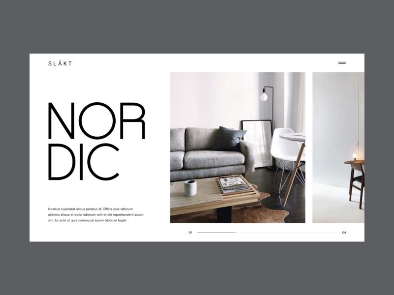 Interior Hero Concept process web design ui website layout grid typography minimal slideshow hero forniture interior