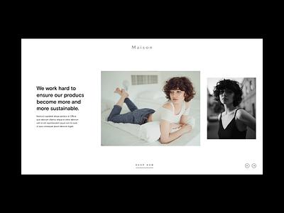 Minimal Fashion Layout ui process grid photography white space typography slider hero layouts minimal website style fashion