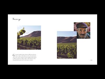 Discover Tuscany Hero web design photography typography grid irregular minimal layout hero website italy destination travel