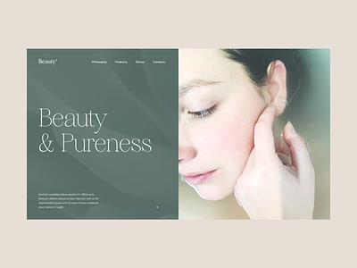 Beauty Website Header beauty grid minimal slider hero website web video ux ui typography promo interface interaction