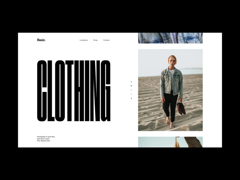 Fashion Website Slider clothing style fashion grid minimal slider hero website web video ux ui typography promo interface interaction