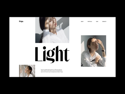 Photography Website Grid white space light photography grid minimal slider hero website web video ux ui typography promo interface interaction