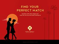 Banner Illustration - Dating Website