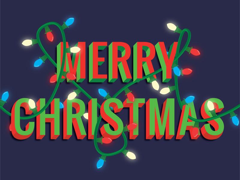 Merry Christmas holiday bulbs merry christmas lights