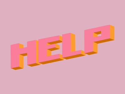 HELP lettering typography help