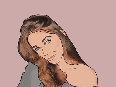 Portrait pop-art portrait
