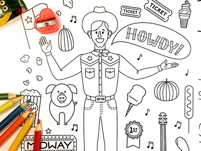 State Fair of Tx Coloring Book by Karen Carrillo on Dribbble