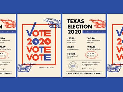 2020 Voting Flyers political flyer design register voting vote