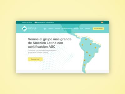Shrimp exporter website