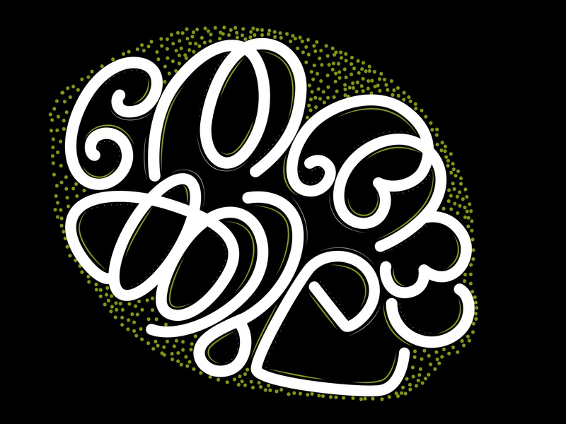 Malayalam lettering - a bunch of coconut by Anu John on Dribbble