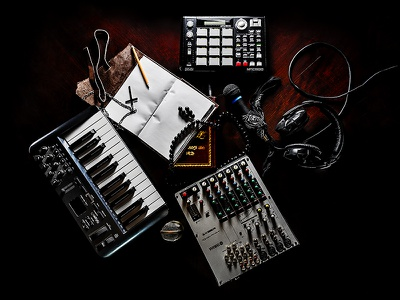 Abstract Formula creative hiphop keyboard mpc microphone object electronic music still-life photography product
