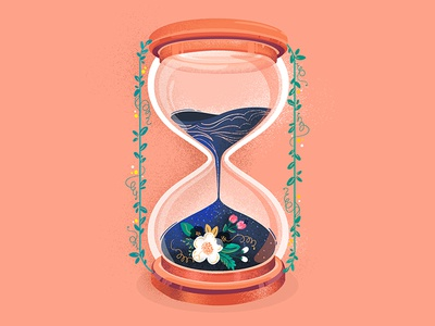 36DaysofType plant sea number time sandclock clock illustration icon typography 36daysoftype