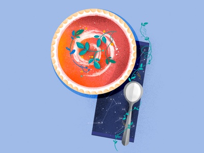 36Daysoftype dinner lunch tomato illustration typography number nature soup food 36daysoftype