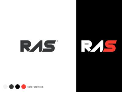 RAS Logo Design design sketch branding design rassportswear logotype logo design dribbble flat branding logo