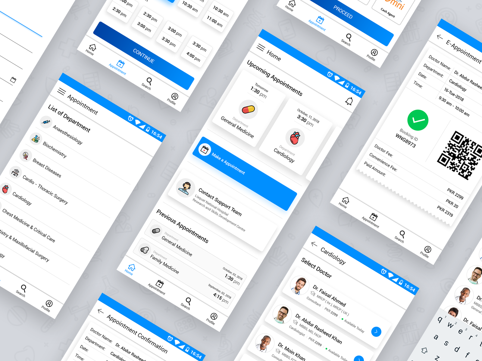 Medical/Healthcare Appointment Booking App | Search by Muzli