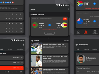 Crictuo – Cricket Mobile App dark UI