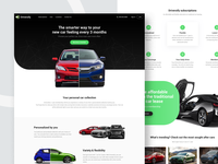 Cars Landing page Design