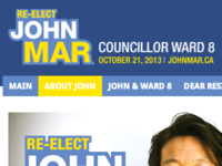 Campaign Web Site For Local Candidate