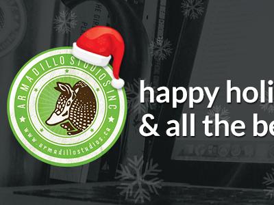 Happy Holidays From Armadillo Studios xmas christmas facebook cover armadillostudios