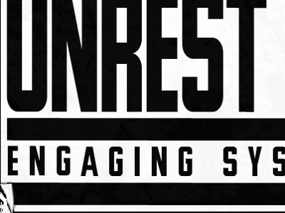 Unrest Magazine Sticker logo unrestmag grunge punk