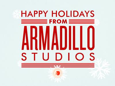 2012 Armadillo Studios Holiday Cards armadillostudios christmas cards happy holidays