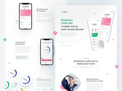 Borderless credit app: A better way to send money abroad case study ios banking credit sending app design interaction ux ui