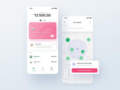 Borderless credit app: Recipient views card
