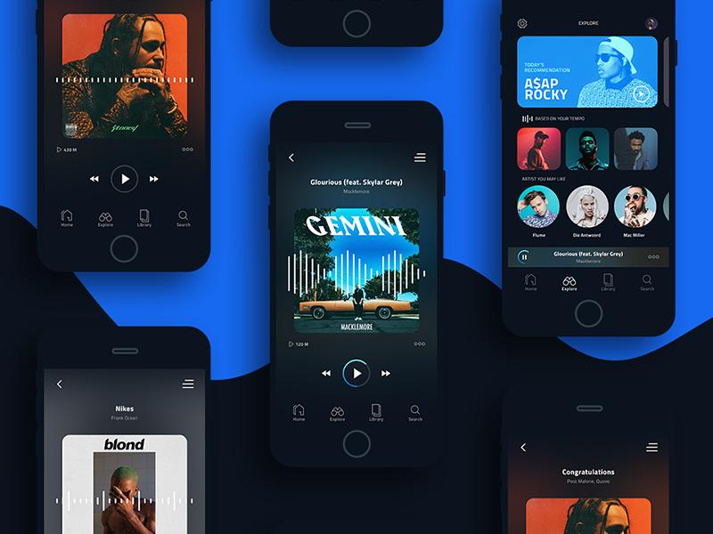 TEMPO 🎧 Music App ux ui app player music