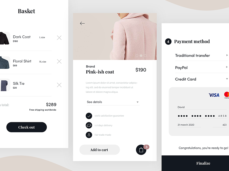 Simple e-commerce app ux ui clean simple clothing mobile website app fashion ecommerce