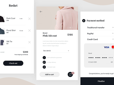 Simple e-commerce app