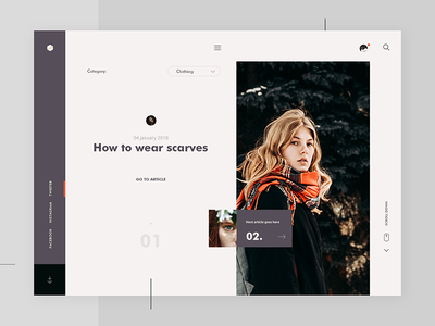 Blog Page photography modern minimalistic clean simple fashion landing ux ui