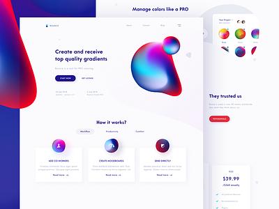 Color management tool website gradient color design web ux ui