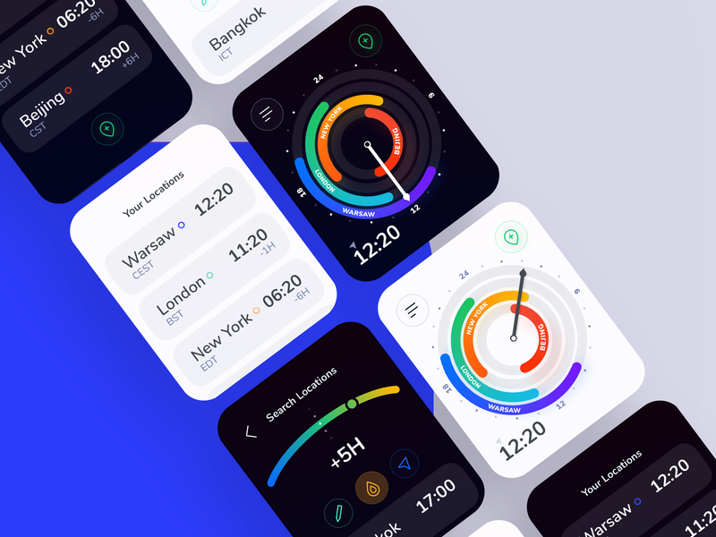 Time Zones Watch App ux ui design app mobile time watch wearables android ios