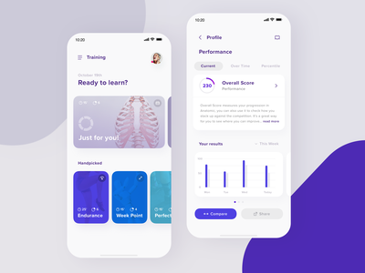 Anatomic -  Training & Performance ux ui mobile learning health reality augmented ar app android ios anatomy