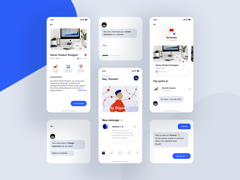 Jack AI Employment Agent ux ui motion mobile messaging machine learning intelligence employment design chatbot animation character artificial app ai