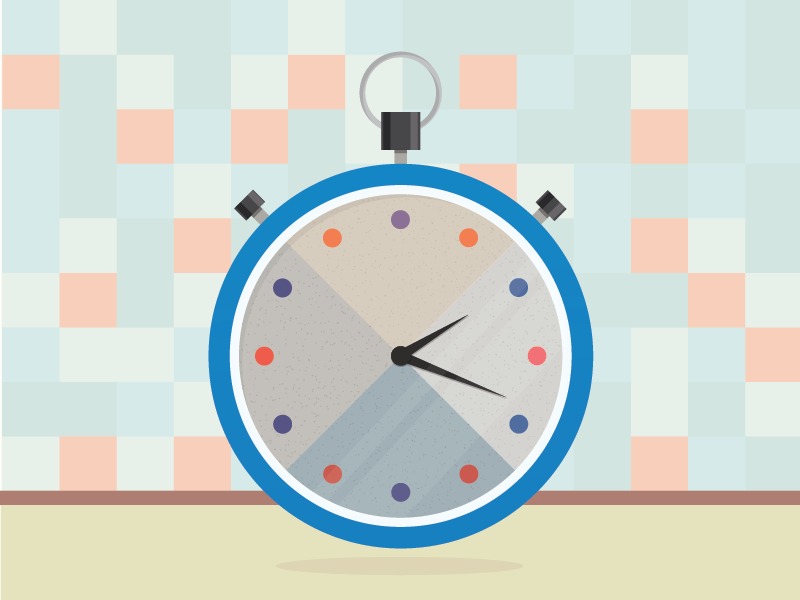 Stopwatch illustrator doodle